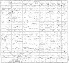 Map Oklahoma Major Co Township Map