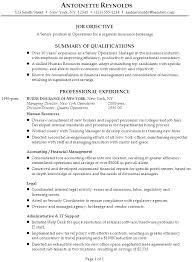 insurance resume exles insurance resume sle antoinetter yralaska