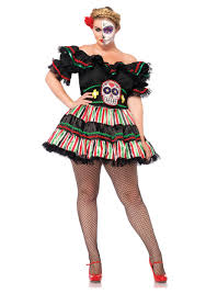 day of the dead costumes day of the dead doll plus size costume
