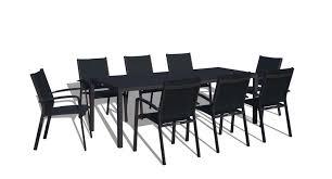 9 Pc Patio Dining Set by 9 Piece Modern Patio Dining Set Black On Black Www