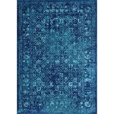 nuloom herminia vintage trellis blue 9 ft x 12 ft area rug