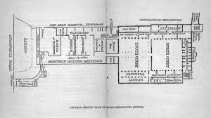 general floor plan for south kensington museum from a guide to