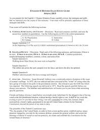 english 11 honors exam study guide spring 2013