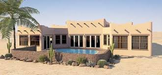 adobe style house plan with icf walls 6793mg architectural