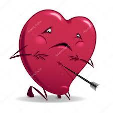 imagenes ironicas del dia de san valentin corazón herido de san valentín archivo imágenes vectoriales