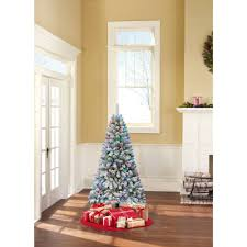 puleo international 7 5 pre lit whistler pine flocked tree
