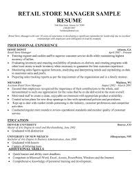 Manager Retail Resume Best Resume Retail Store Manager Professional Resumes Sample Online