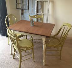 Small Kitchen Table Sets For Sale by Hand Crafted Vintage Small Kitchen Table With Four Miss Matched