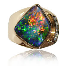 matrix opal ring gallery ring opal rings bright green orange gold mens gold ring