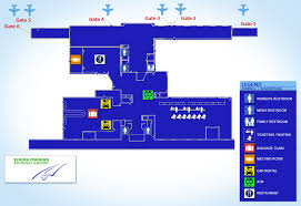 New York Airport Map Terminals by Chemung County Government