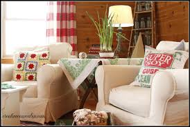 White Slipcovered Sofa by Living Room With White Slipcovered Furniture Creative Cain Cabin