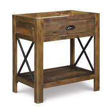 Rustic Pine Nightstand Magnussen Home River Ridge Wood 1 Drawer Open Nightstand B2375