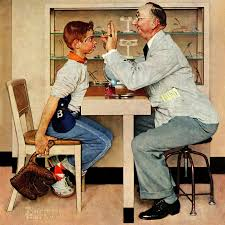 marmont hill eye doctor by norman rockwell painting print on
