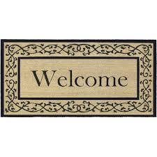 Welcome Doormats Tips Monogram Doormat Oversized Door Mats Unique Welcome Mats