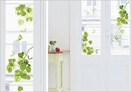 stickers fenetre cuisine stickers electrostatiques vitres fenetre feuilles vertes deco