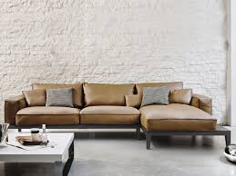 Wooden Furniture Sofa Corner Corner Sofa Contemporary Leather Wooden Caresse Fly By