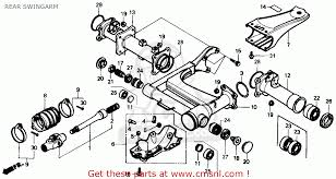 honda trx350 fourtrax 4x4 1986 g usa rear swingarm schematic