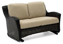 Wicker Loveseat Patio Furniture - dreux patio loveseat glider weir u0027s furniture