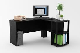 Computer Desk With Shelves by Furniture Wooden L Shaped Writing Desk With White Display Shelves