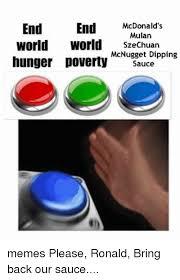 Meme Sauce - end end mcdonald s mulan world world szechuan mcnugget dipping