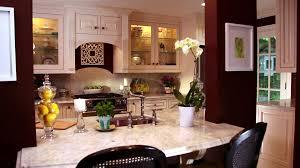 kitchen light wood floor hanging pendant marble countertops