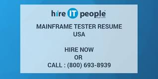 Sample Resume For Mainframe Production Support by Mainframe Tester Resume Hire It People We Get It Done