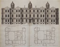 English Country House Plans Longleat House Wiltshire South Elevation 18th Century English