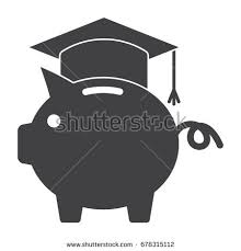 graduation piggy bank 529 college savings plan concept piggy stock vector 678315112