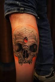 calf colour skull chronic ink
