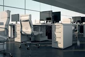 Armchair With Desk Side View Of An Office Set White Armchair And Desk With A Monitor
