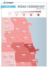 Map Of Chicago Suburbs Chicago Rent Prices By Neighborhood This February