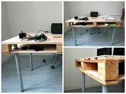 fabriquer un bureau avec des palettes faire un bureau avec des palettes en bois ciabiz com