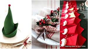 super delicate napkin ideas for your christmas table setting