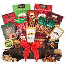 christmas gift baskets christmas gift basket deluxe by gourmetgiftbaskets