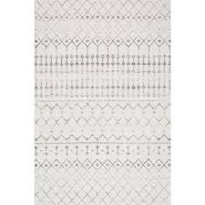 Nuloom Area Rugs Nuloom Blythe Grey 4 Ft X 6 Ft Area Rug Rzbd16a 406 The Home Depot