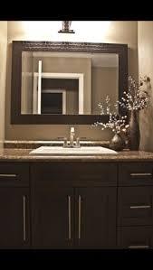 Framed Bathroom Mirror by Bathroom Mirror And Backsplash Idea For The Home Pinterest