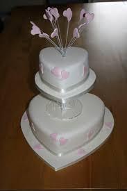 heart wedding cake two tier pink heart wedding cake bespoke celebration cakes