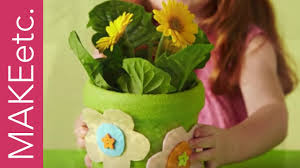 diy kids craft activity how to make a spring flower pot for