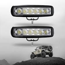 Atv Light Bar 7 Inch Led Work Light Bar 18w Flood Beam For Off Road 4wd Jeep