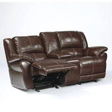 Ashley Furniture Leather Loveseat Ashley Furniture Lenoris Leather Glider Reclining Loveseat In