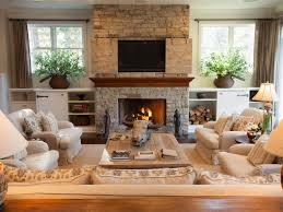 Design Living Room With Fireplace And Tv Inviting Living Room In Lake Tahoe Retreat Linda Mccall Hgtv