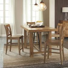 Tropical Kitchen  Dining Tables Youll Love Wayfair - Tropical dining room sets counter height