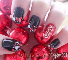 prettyfulz valentine u0027s day nail design xoxo