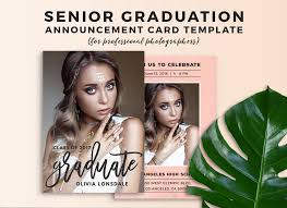senior graduation announcement templates senior graduation announcement card template