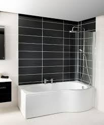 shape shower bath right hand1700 includes glass shower screen