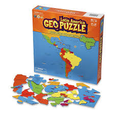 Latin America Map Game by Amazon Com Geopuzzle Latin America Educational Geography Jigsaw