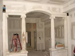 living room and dining room areashalf wall column dining room