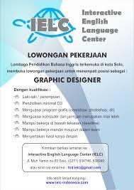 lowongan kerja desain solo lowongan pekerjaan graphic designer ielc