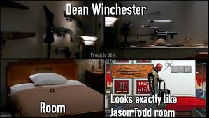 Winchester Bedroom Furniture by Jason Todd And Dean Winchester Bedroom By Jasontodd1fan On Deviantart
