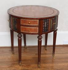 Maitland Smith Coffee Table Maitland Smith Leather Top Drum Table Ebth